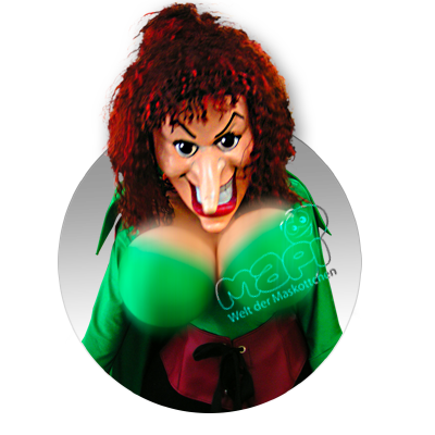 Maskottchen Sexy Hexe