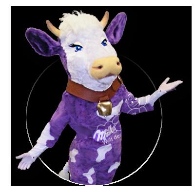 Sympathiefigur Maskottchen Milka Kuh